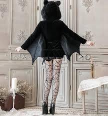 Halloween <b>Black Vampire Bat Cosplay</b> Costume Woman Black Evil ...
