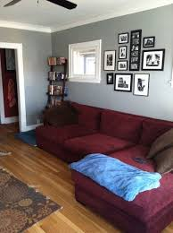 wine colored couch with gray wall paint google search burgundy living room burgundy furniture decorating ideas