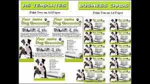 dog grooming flyer leaflets dog grooming flyer leaflets