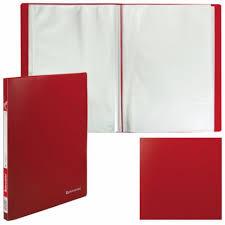 <b>Папка Brauberg</b>, Office, <b>А4</b>, <b>0</b>,<b>5</b> Мм, Красный, 30 Вкладышей ...