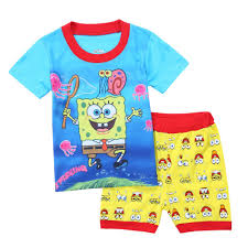 cheap big kids pajamas big kids pajamas deals on line at new arrive summer style short sleeve 3d cartoon spongebaby cotton kids pajamas for boys baby boy