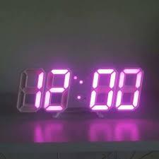 <b>3D LED Digital Electronic</b> Alarm Clock Creative Three-dimensional ...