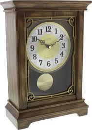 Деревянные <b>настольные часы Rhythm CRJ739NR06</b> кварцевые