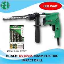 <b>HITACHI</b> 16MM 600WATT ELECTRIC IMPACT DRILL (<b>DV16VSS</b> ...