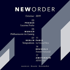 New Order - Autumn European Tour 2019 - New Order