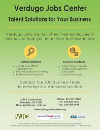 city of glendale ca verdugo jobs center vjc business flyer for business final print 10 24 16 page