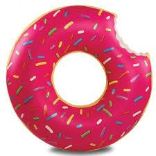 <b>Круг надувной BIGMOUTH</b>, <b>Strawberry</b> Donut, 120*122*35 см ...