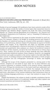 ISSUES IN SECOND LANGUAGE PROFICIENCY.<b>Alessandro G</b> ...