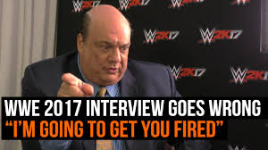 wwe k interview paul heyman goes wrong i m going to get wwe 2k17 interview paul heyman goes wrong i m going to get you fired