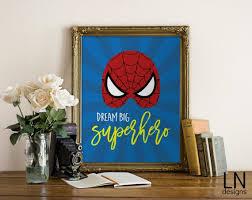 Instant '<b>Dream Big Superhero</b>' Spiderman Printable Wall | Etsy