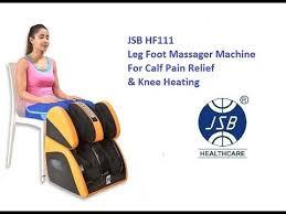 jsb hf111 leg <b>foot massager</b> machine for calf pain relief & <b>knee</b> heating