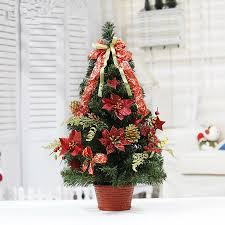 hot sale 30cm red christmas decoration flowerpot christmas tree office and house desk decoration artificial christmas tree office desk