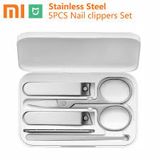 5pcs Xiaomi <b>Mijia</b> Stainless Steel <b>Nail Clippers</b> Set Portable ...