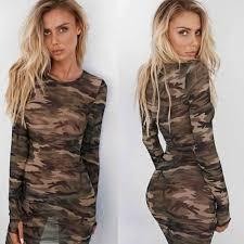 Online Shop <b>2019</b> New Camo Slim Dress <b>Sexy Womens</b> Mesh ...