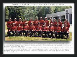 photo looking back at powell river detachment rcmp veterans to view a larger image of above photograph