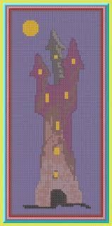 Cross stitch <b>pattern</b> Dark <b>castle</b> .<b>Halloween castle</b>. PDF cross stitch ...