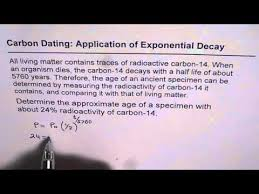 Carbon Dating an Application of Exponential Decay to Find Age     YouTube Carbon Dating an Application of Exponential Decay to Find Age