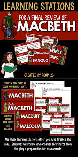 best ideas about macbeth activities macbeth macbeth learning stations great for a final review of the play let students independently