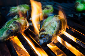 five top food trends from spain s xavier agulló the lemon grove mexican small green peppers roast on flames on a grill c kelly van dellen