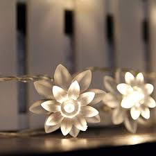 ER CHEN Battery Operated Indoor and Outdoor 60 LED <b>Lotus</b>