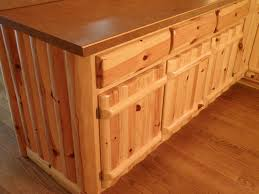 panel kitchen knotty pine cabinetry