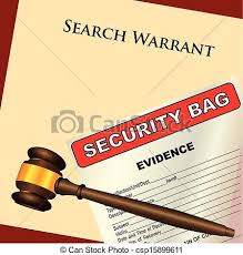 Image result for graphic for search warrant