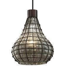 wire glass teardrop mini pendant axia modern lighting