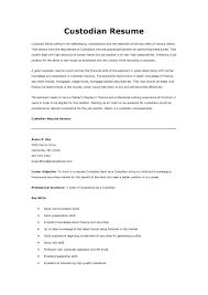 carpenter resume example  resume custodian
