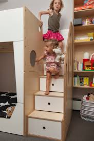 in these straight stairs storage drawers are placed directly below the treads strategically bunk bed steps casa kids