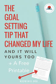 17 best ideas about goal setting worksheet goals the goal setting tip that changed my life