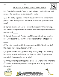 math problems for children st grade math problems for children captains party