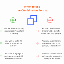 resume format overview guide resume companion when to use combination resume format