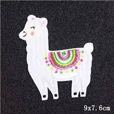 <b>Pulaqi Cartoon</b> Animals Unicorn Alpaca Stripes Embroidered ...