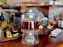 <b>Wood Handle Large</b> Glass Teapot Glassware Teaware