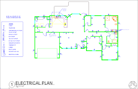 AutoCAD Drawings by Tiffany Gagne at Coroflot comElectrical Plan   Electrical Plan of House Plan from Residential Drafting I