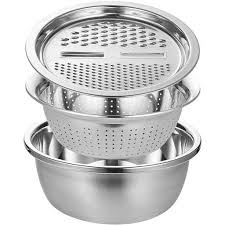 <b>Multifunctional Stainless Steel</b> Basin Sink Kitchen Colander Fine ...