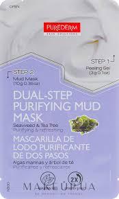 <b>Двухступенчатая маска для лица</b> - Purederm Dual-Step Purifying ...