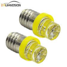 <b>2pcs e10</b> yellow 3000k bicycle <b>torch flashlight</b> bright f3 1smd 6v <b>led</b> ...