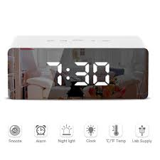 <b>LED Mirror Alarm Clock</b> – PRiiS Global