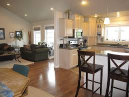 image of open concept kitchen and living room ideas beautiful open living room