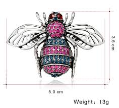 <b>CINDY XIANG 2 Colors</b> Available Rhinestone Bee Brooches for ...