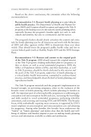 title x goals priorities and accomplishments a review of the page 97