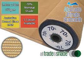 70% <b>Shade</b> Cloth 1.83M x 30M <b>ROLL</b>, Shadecloth/mesh in Green/S ...