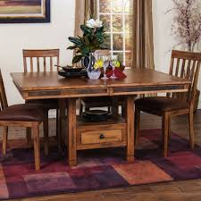 designs sedona table top base: sunny designs ro sedona adjustable height dining table with butterfly leaf in rustic oak
