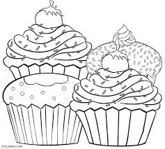 Small Picture Printable Cupcake Coloring Pages Coloring Coloring Pages