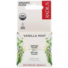 RADIUS, <b>Organic Floss</b>, Vanilla Mint, 55 yds (50 m), цена 129,98 ...