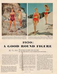 celebrating a w s roundness a fashion magazine sp holiday magazine 1950 titled 1950 a nice round figure