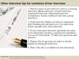 top sanitation driver interview questions and answers previous