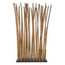 bamboo room divider on steel base plate  x  cm
