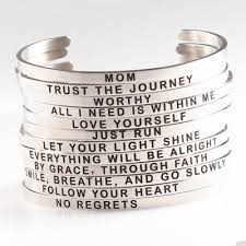 <b>Stainless Steel</b> Engraved Inspirational Letters <b>Cuff Mantra Bangle</b> ...